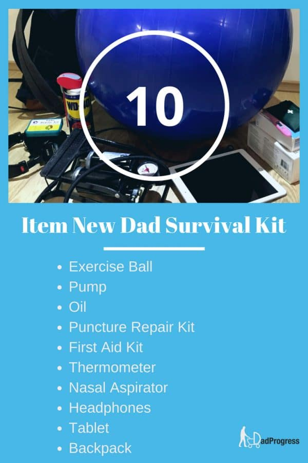I'm a new father and this new dad survival kit picture lists the items that I found helpful. Click to read why I picked these items.