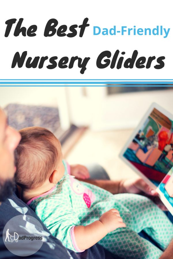 The best glider for nursery may be hard to find as it should be a recliner and have a modern design. Click to see the best one so you can leave the dad watching the baby:)