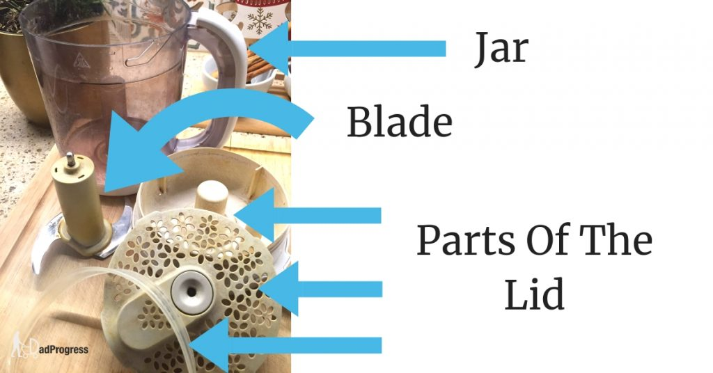 Avent Parts You Need To Clean- A Jar, Blade and 3 Parts Of The Lid