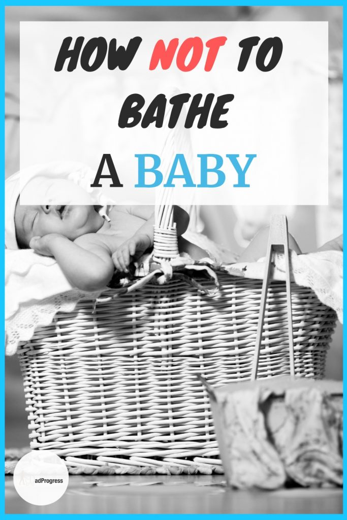 When you start bathing a newborn, you probably need some tips and ideas on how to do it. Click to read first I how I had a small mishap and learn how to wash your baby correctly