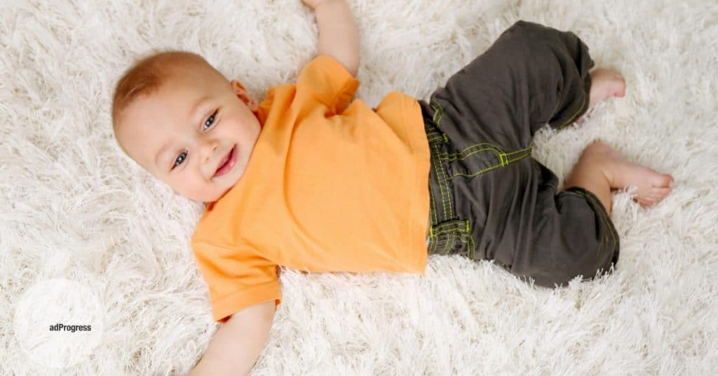 Baby On A Rug