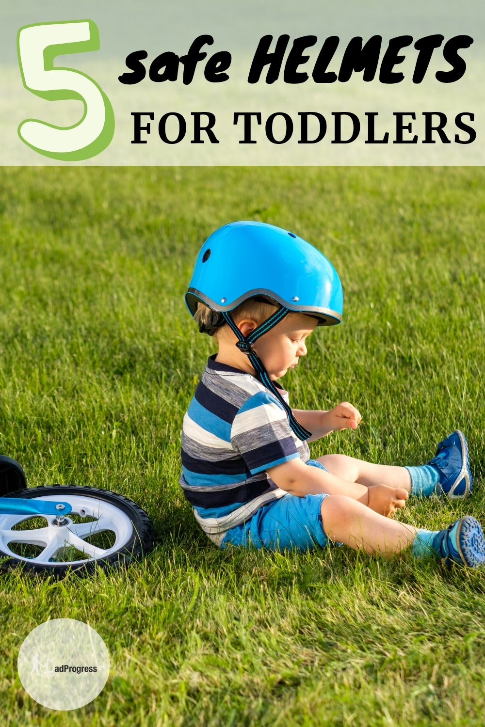 Hi there! If your kid sits on a bike then your boy or girl should wear a helmet. Click to read my guide where I also review some of the best and safest helmets for infants and toddlers.