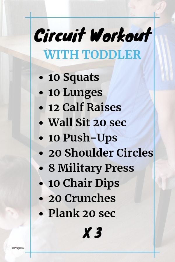 This Circuit Workout For Men Or Women Is Ideal To Do At Home With A Baby Or Toddler. Check Also My Guide For More Tips!