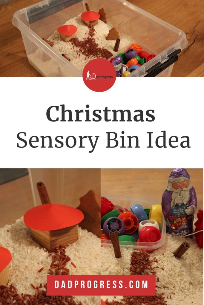 Making white rice to represent snow when creating a Christmas sensory bin for your toddler is a great idea! Click to see how my bin turned out!