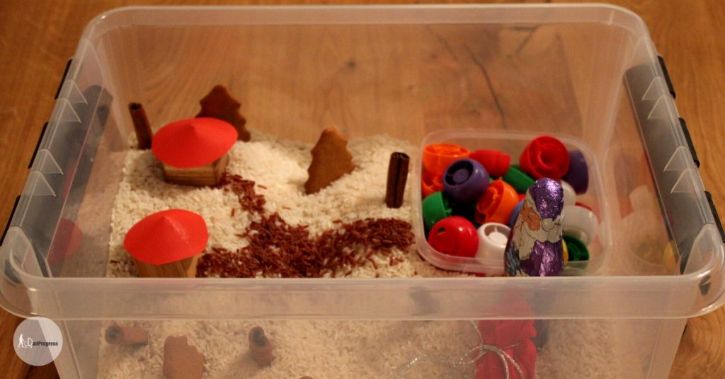 Christmas THemed Sensory Bin