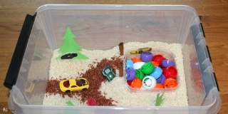 Fun activity bin for toddlers