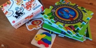 Three different toddler puzzles
