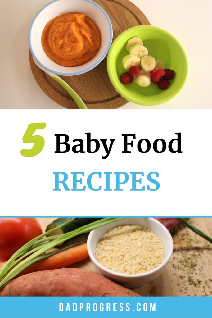 My wife created these five healthy homemade baby food recipes! If you've got a steamer, then these are easy to make. So if you need ideas for 6 months and up, then click to check out my guide.