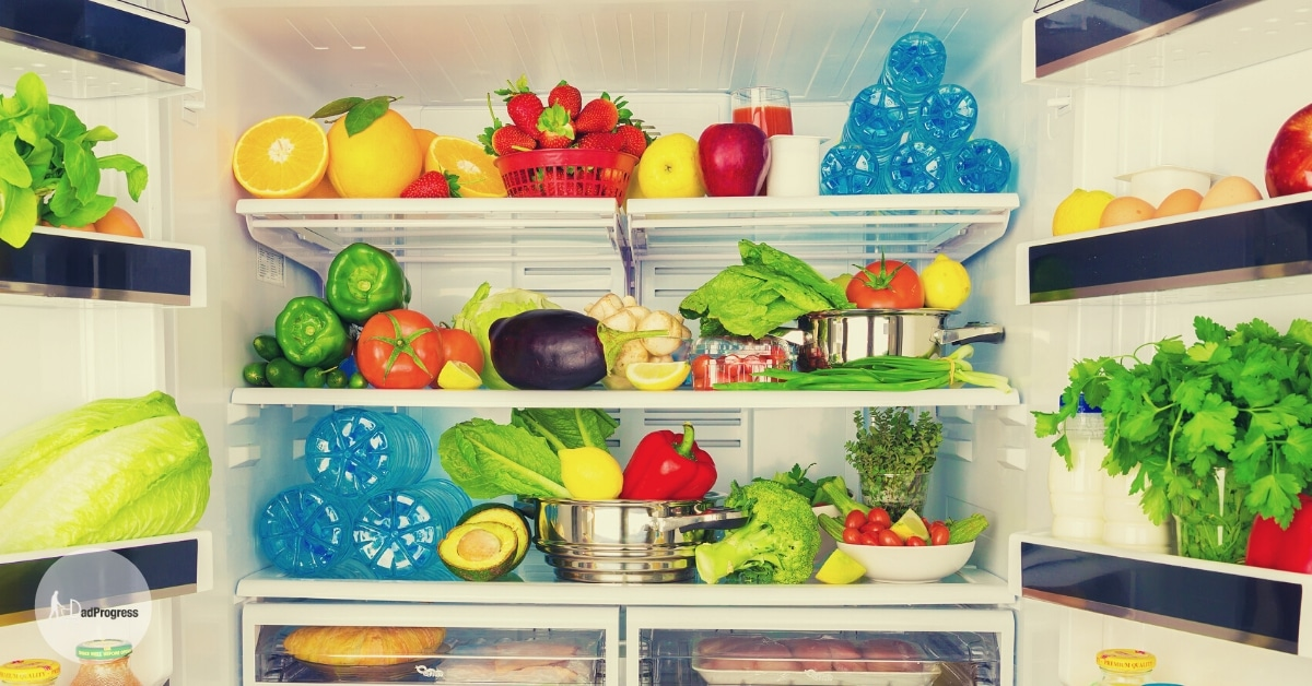 Fridge full of fresh products (that you can use with the best baby food maker)